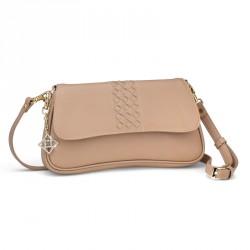 Dámská kabelka Oliver Weber Cross Clutch - 71057 (kůže beige)