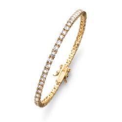 Stříbrný náramek Oliver Weber Classic - 63520 - Ag925 (crystal / gold plated)