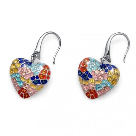 Náušnice Oliver Weber Gaudí Heart - 22451 (multi)