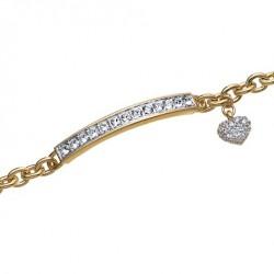 Náramek Oliver Weber Trust - 32006 (gold/crystal)