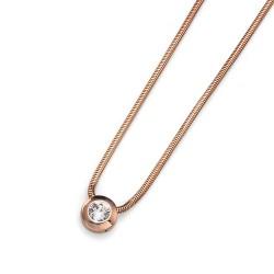 Náhrdelník Oliver Weber Diamond - 11025 (rosegold / crystal)