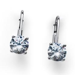 Stříbrné náušnice Oliver Weber Comfort - 62071 - Ag925 (crystal)