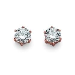 Stříbrné náušnice Oliver Weber Brilliance Medium - 62066 - Ag925 (crystal / rosegold)