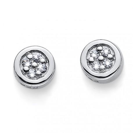 Stříbrné náušnice Oliver Weber Pinny - 62073 - Ag925 (crystal)