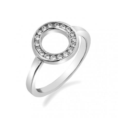 Stříbrný prsten Hot Diamonds Emozioni Saturno Silver