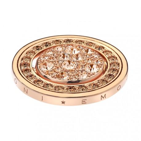 Přívěsek Hot Diamonds Emozioni Fiamme e Ghiaccio Rose Gold Coin