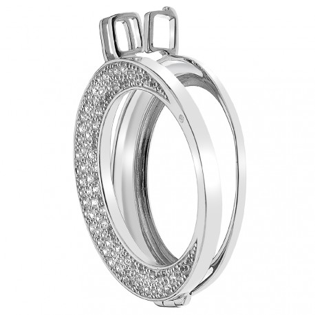 Stříbrný přívěsek Hot Diamonds Emozioni Luna Coin Keeper