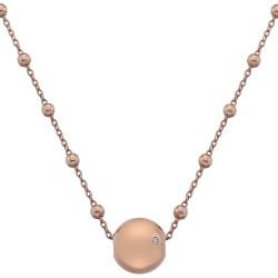 Stříbrný náhrdelník Hot Diamonds Globe Rose Gold