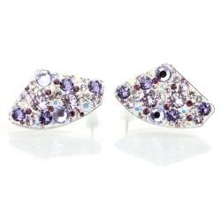 Náušnice s krystaly Swarovski Galactic Violet