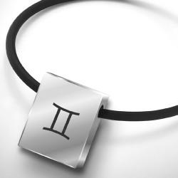 Ocelový přívěsek TeNo Zodiac Sign GEMINI