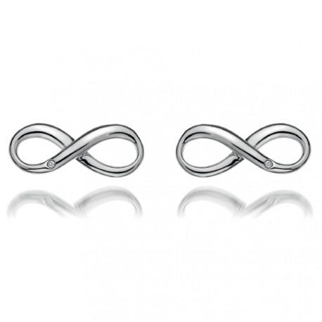 Stříbrné náušnice Hot Diamonds Infinity