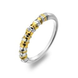 Stříbrný prsten Hot Diamonds By The Shore Gold