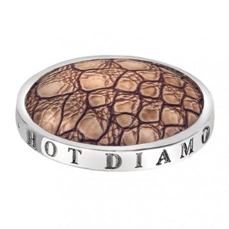Přívěsek Hot Diamonds Emozioni Faux Crocodile Light Brown Coin