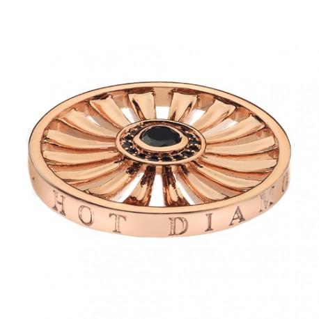 Přívěsek Hot Diamonds Emozioni Art Deco Sunrise Rose Gold Coin