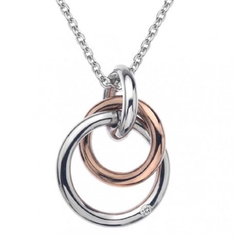 Stříbrný přívěsek Hot Diamonds Eternity Rose Gold DP373