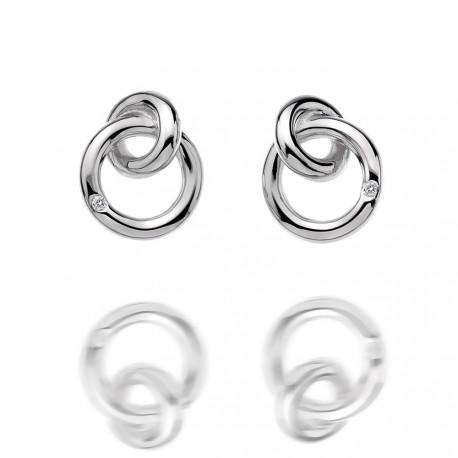 Stříbrné náušnice Hot Diamonds Eternity Interlocking Silver Stud DE308