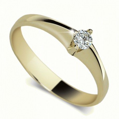 Prsten s briliantem Danfil DF1956Z