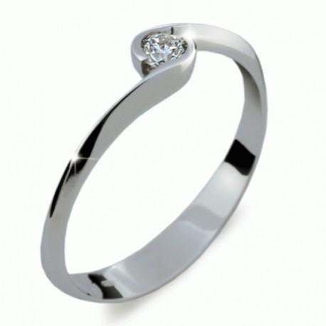 Prsten s briliantem Danfil DF1914