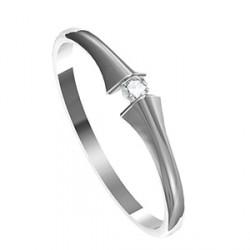 Zásnubní prsten s briliantem Leonka 013