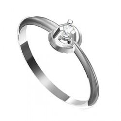 Zásnubní prsten s briliantem Leonka 008