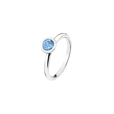 Stříbrný prsten Hot Diamonds Emozioni Scintilla Blue Peace