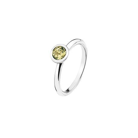 Stříbrný prsten Hot Diamonds Emozioni Scintilla Peridot Nature