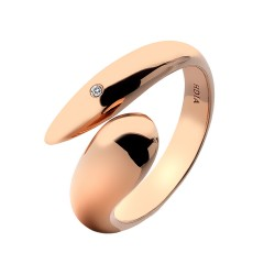 Stříbrný prsten Hot Diamonds Mirage Rose Gold