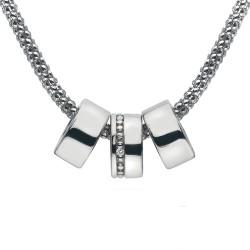 Stříbrný náhrdelník Hot Diamonds Trio