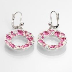 Náušnice s krystaly Swarovski Circle Rose