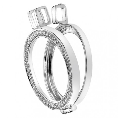 Stříbrný přívěsek Hot Diamonds Emozioni Reversible Coin Keeper