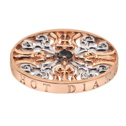 Přívěsek Hot Diamonds Emozioni Victorian Silver and Rose Coin