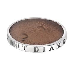 Přívěsek Hot Diamonds Emozioni Faux Ostrich Brown Coin