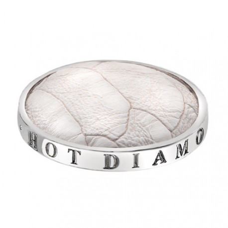 Přívěsek Hot Diamonds Emozioni Faux Crocodile White Coin