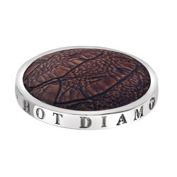 Přívěsek Hot Diamonds Emozioni Faux Crocodile Dark Brown Coin