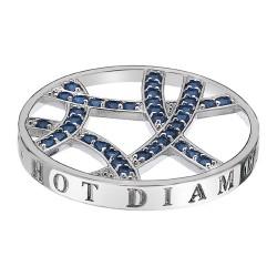 Přívěsek Hot Diamonds Emozioni Azure Sparkle Arc Coin