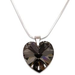 Stříbrný náhrdelník s krystalem Swarovski Silver Night