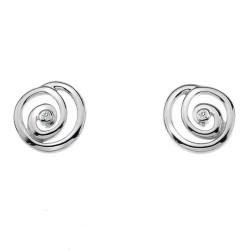 Stříbrné náušnice Hot Diamonds Eternity Spiral Stud DE306