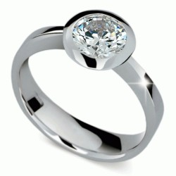 Prsten s briliantem Danfil DF1883