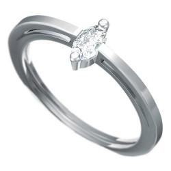 Zásnubní prsten s briliantem Dianka 809