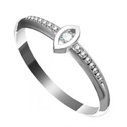 Zásnubní prsten s briliantem Leonka 007