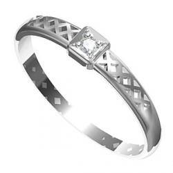 Zásnubní prsten s briliantem Leonka 002