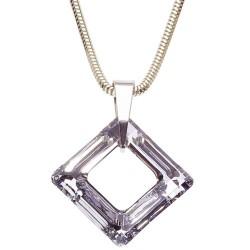 Stříbrný náhrdelník s krystalem Swarovski Square Crystal