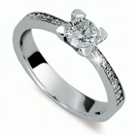 Briliantový prsten Danfil DF1961 - NAUSNICE.CZ ff6296f2607