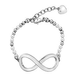 Stříbrný náramek Hot Diamonds Infinity Bead Pearl Large