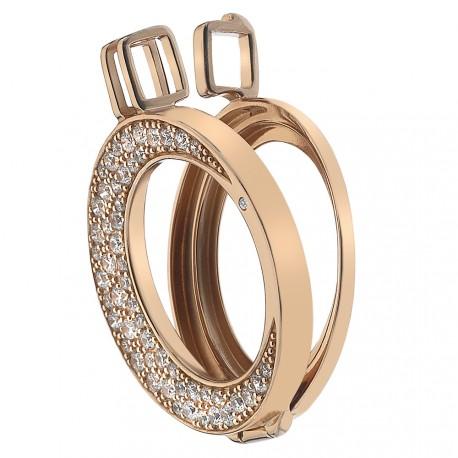 Stříbrný přívěsek Hot Diamonds Emozioni Luna Rose Gold 25 Coin Keeper