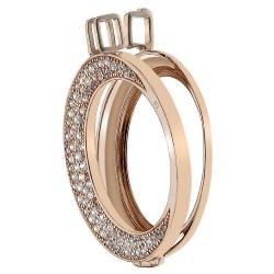 Stříbrný přívěsek Hot Diamonds Emozioni Luna Rose Gold Coin Keeper