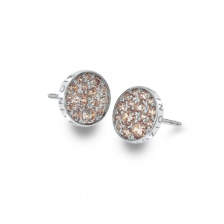 Stříbrné náušnice Hot Diamonds Emozioni Scintilla Champagne