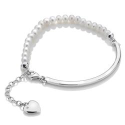 Stříbrný náramek Hot Diamonds Festival Mother of Pearl