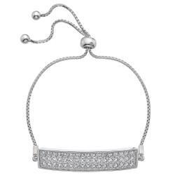 Stříbrný náramek Hot Diamonds Crystal Triple Row Clear