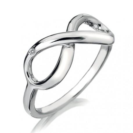 Stříbrný prsten Hot Diamonds Infinity